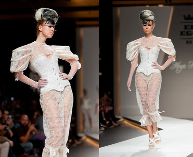The sinful lace corset couture of maya hansen
