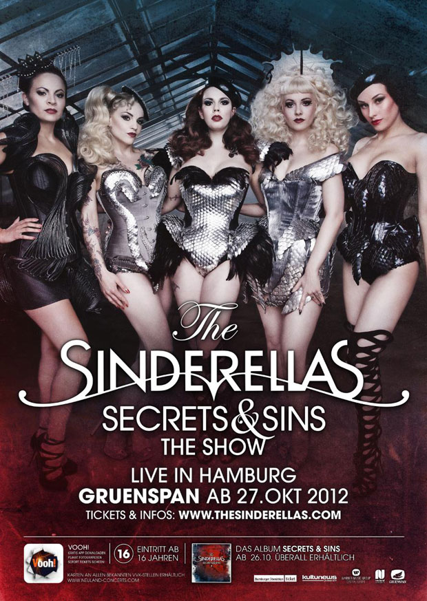 The Sinderellas – Secrets & Sins – Tickets für Hamburg for free