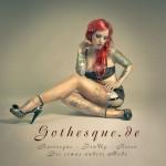 Burlesque Künstler stehen auf Glamour und Glitzer